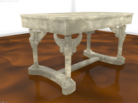 3d model napoleon desk marble