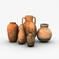 3d ancient vases model