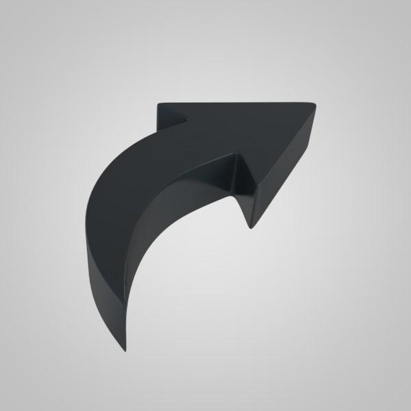 3d arrow 4 model