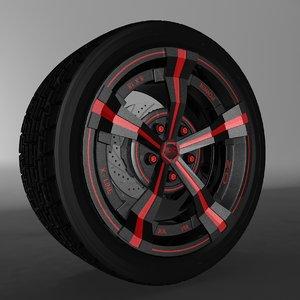 3d model car oz rim