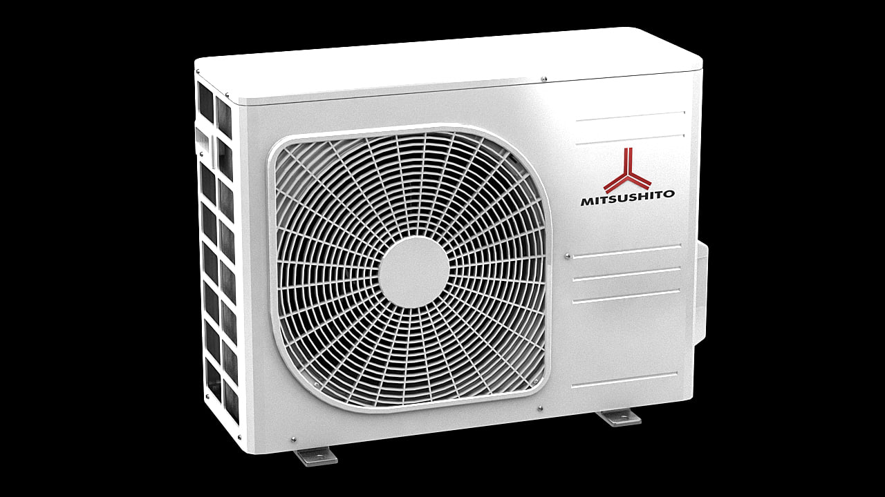 3d model mitsushito air conditioner block