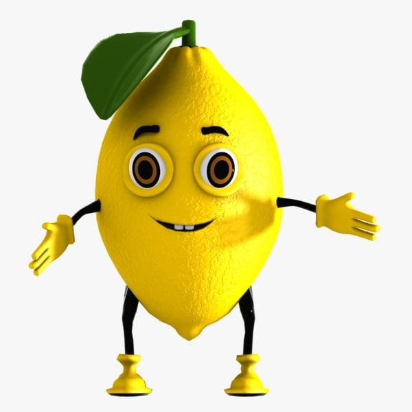 3d model lemon character