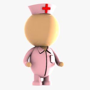 nurse character 3d max