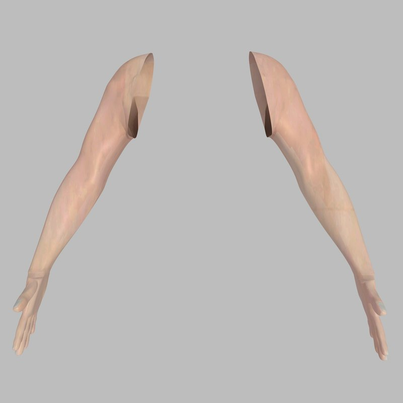 3ds max realistically male arms