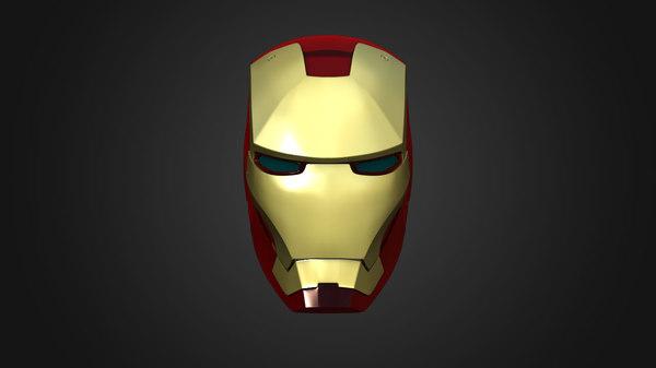 Iron Man Helmet 3D Models for Download | TurboSquid