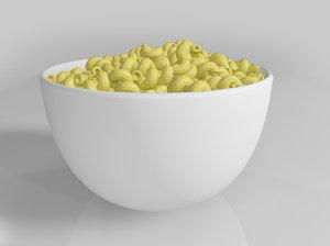 3d model pasta food