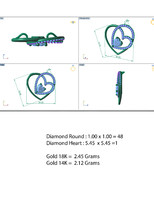 pendant design cad 3d model