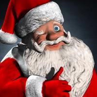 Weihnachtsmann-Cartoon