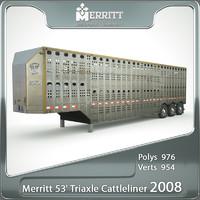 merritt 53 triaxle cattleliner c4d