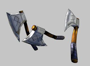 viking axe obj