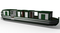 3d canal boat