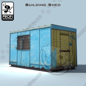 free 3ds model building shed