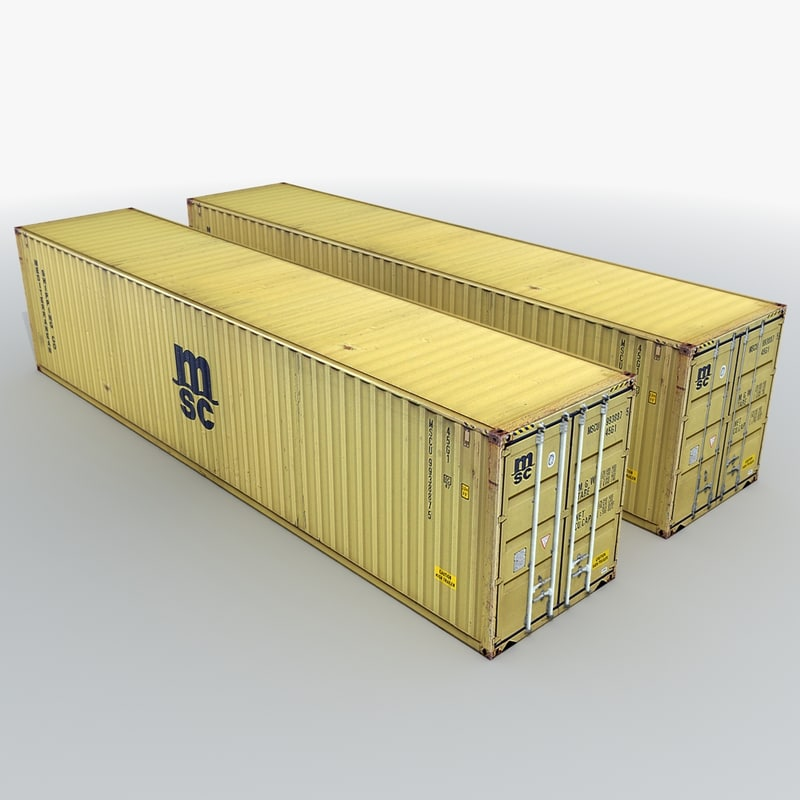 3d msc shipping container model
