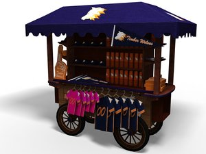 3d merchandise cart