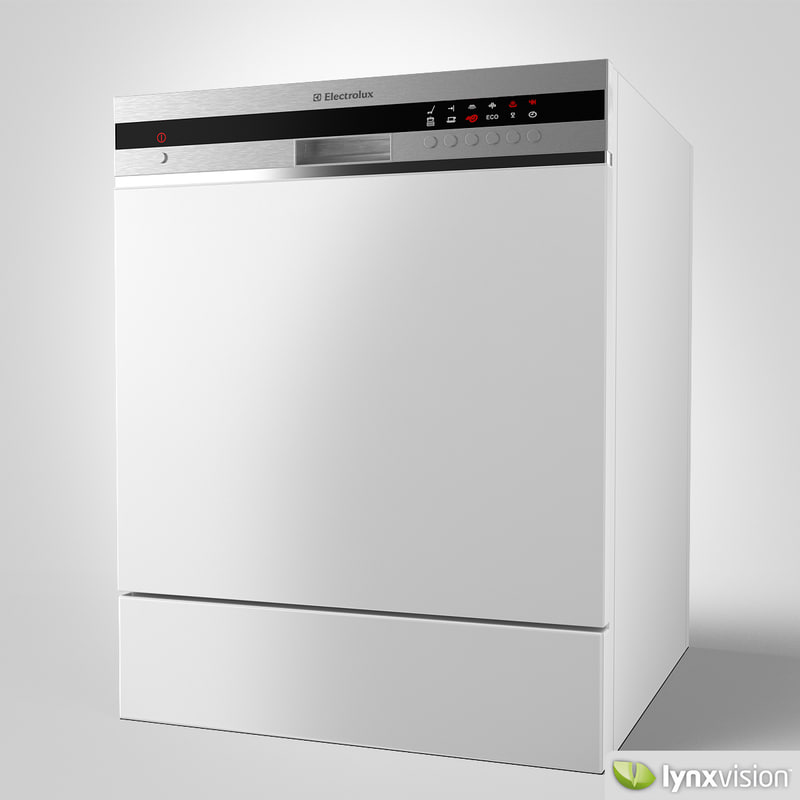 3d model electrolux dishwasher