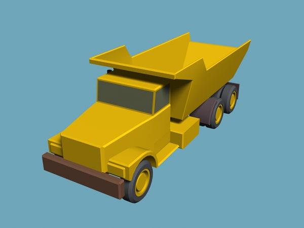 basic dump truck 3d model