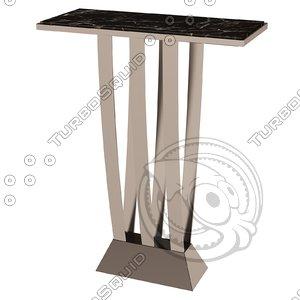 eichholtz table console beau 3d model