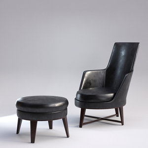guscio alto armchair 3d model