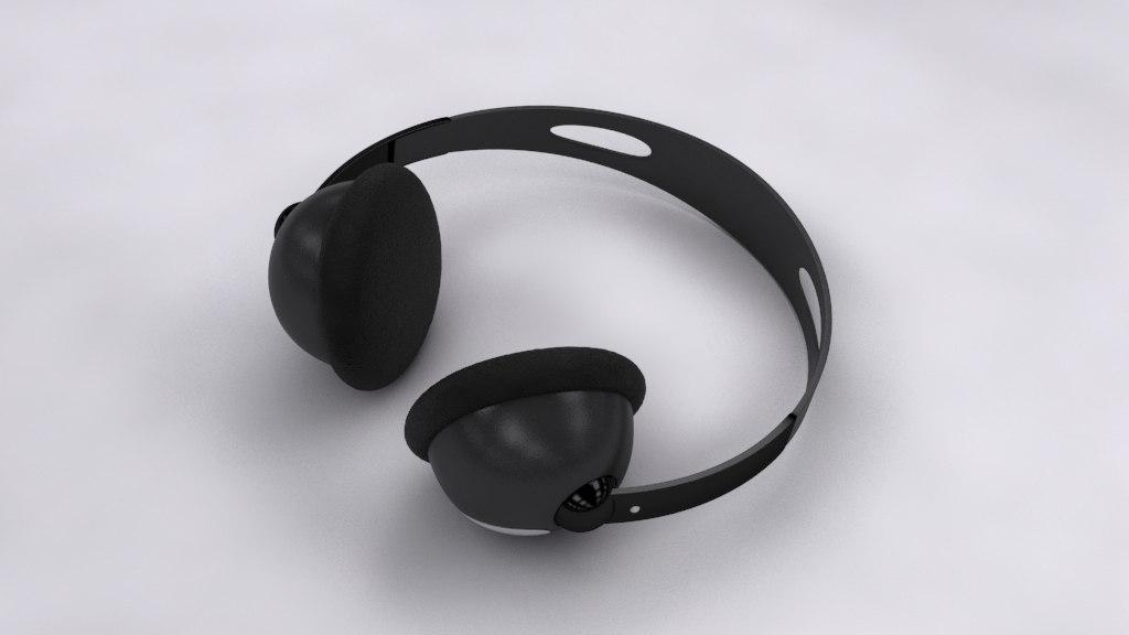 3d model of headphone