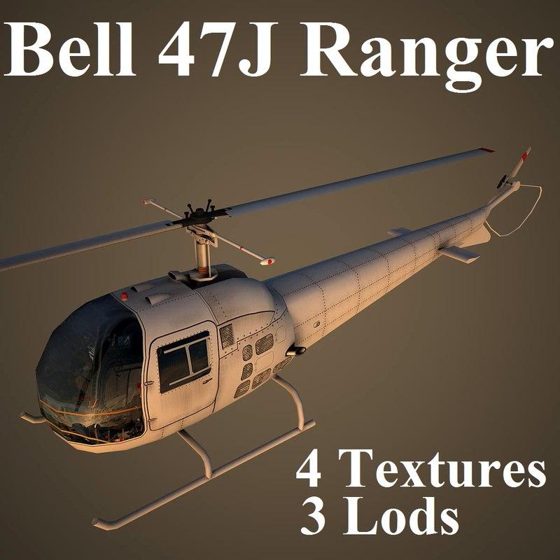 bell 47j 3d model