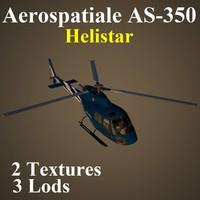 aerospatiale hlr helicopter 3d max