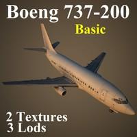 3d 737-200 basic