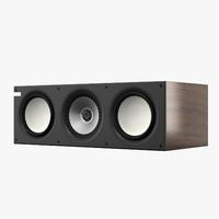 kef q600c speaker 3d model