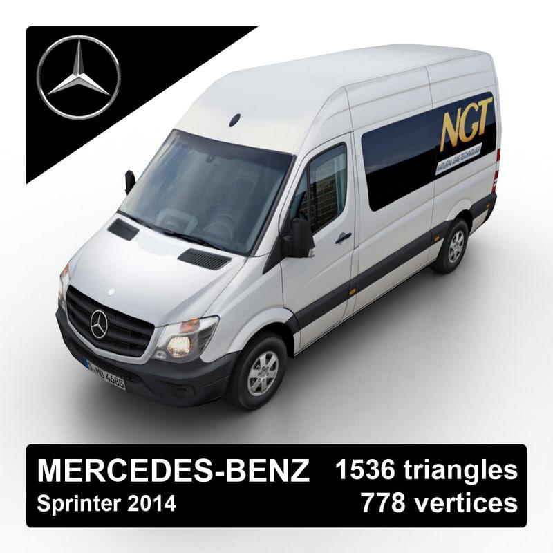 2014 mercedes-benz sprinter van 3d model