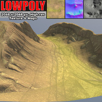 3d canyon maps terrain model