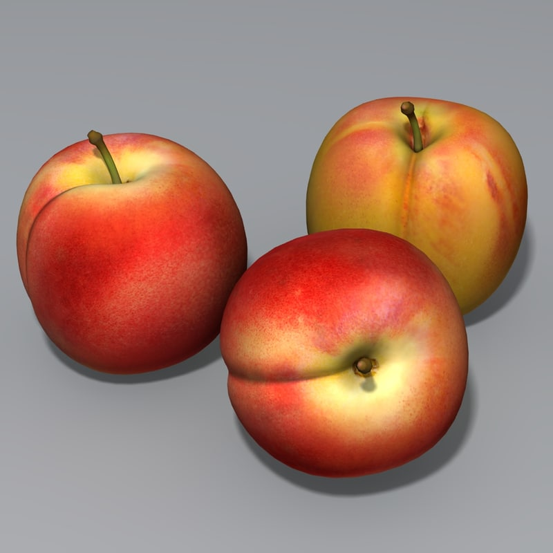 3ds max peach fruit