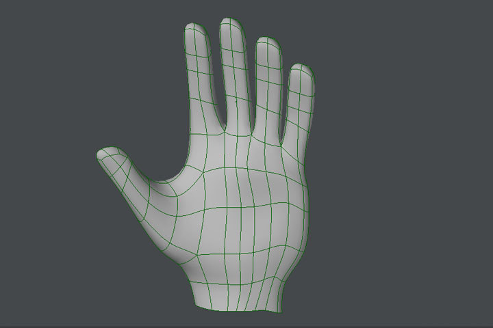 free human hand 3d model