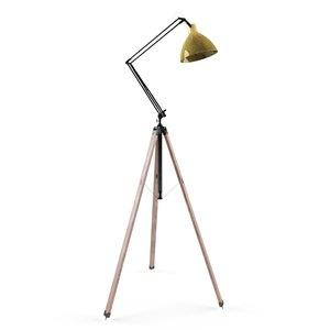 3d model of architect tripod lamp