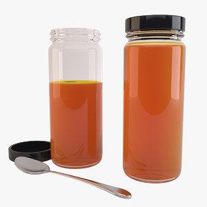 3d jars marmalade model