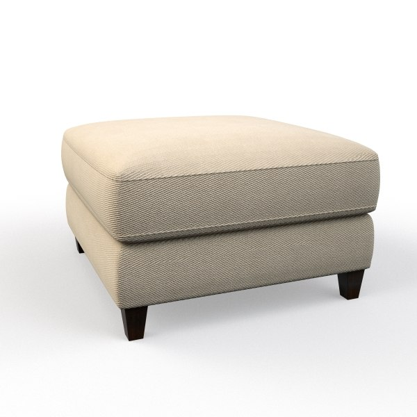 3d model raymour flanigan ottoman