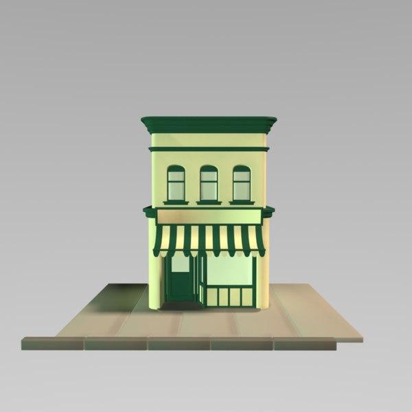 toon shop 3d model