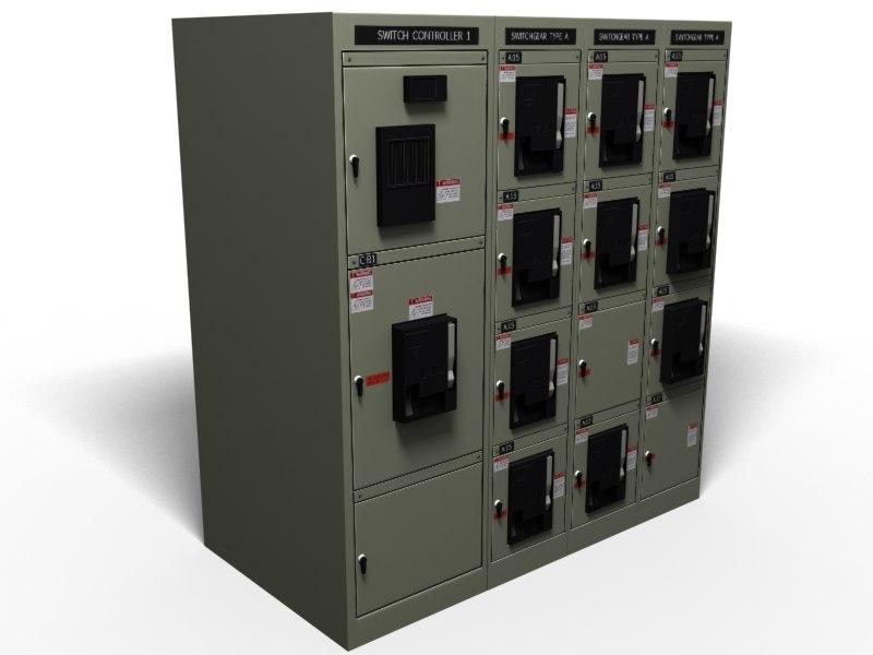 3d model switch gear