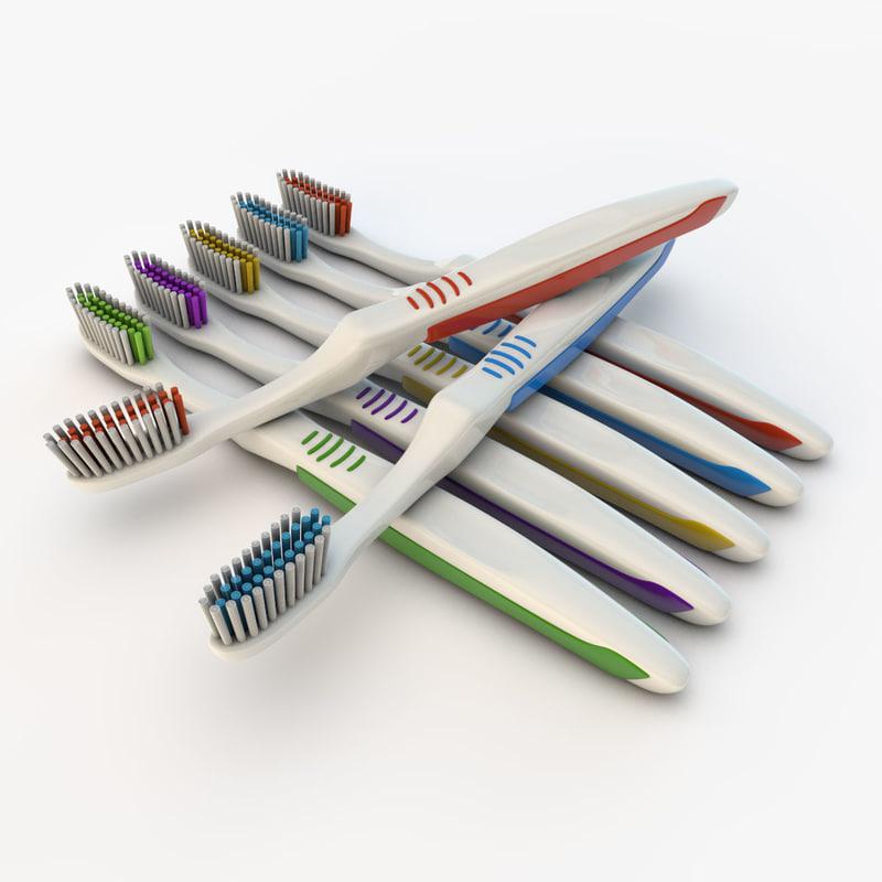 toothbrush brush 3d fbx