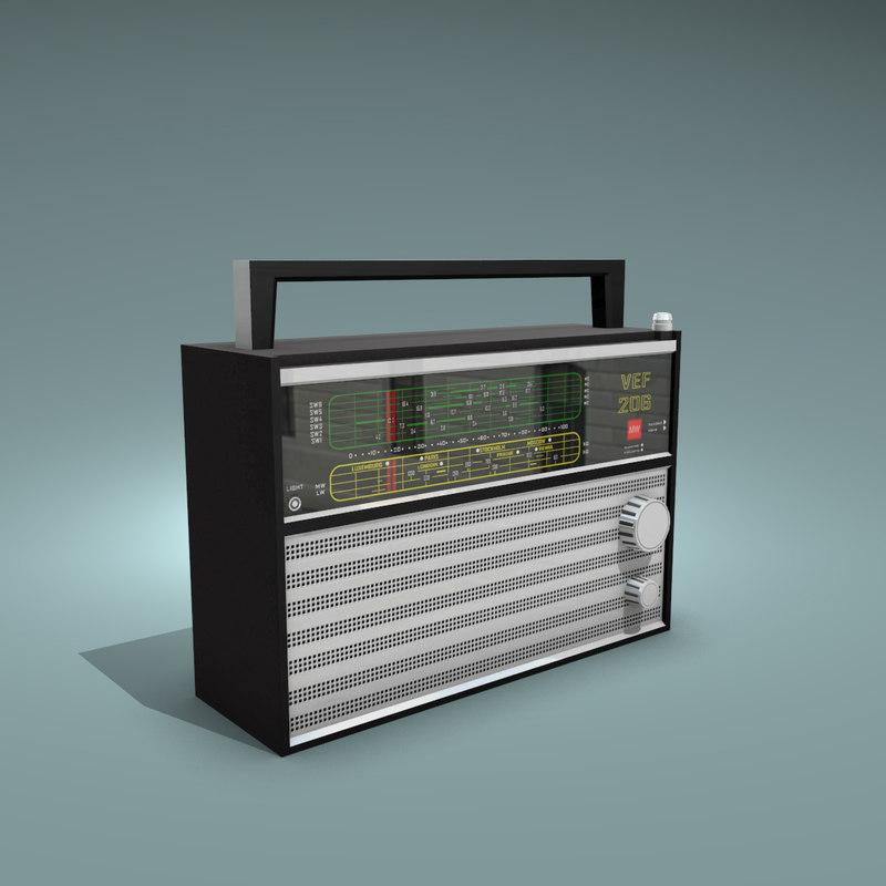 3d model vef 206 radio