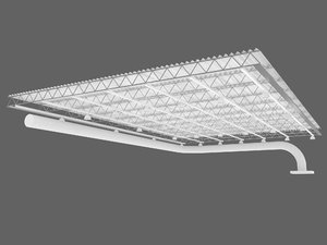 3d industrial ceiling