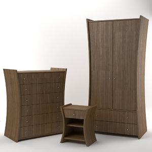 3d embrace furniture oak