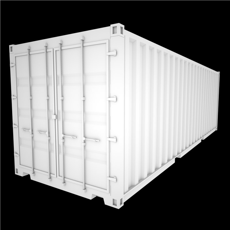 shipping containr 3d x