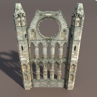 3d castle ruin modelled