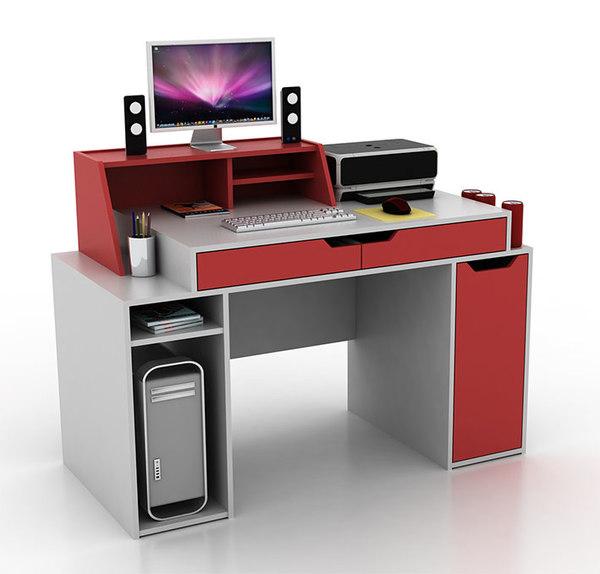 designer s computer desk 3d model