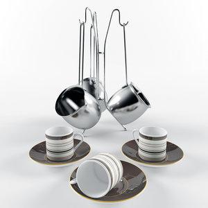 3d model of turkish set pot