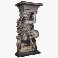 statue dresden pan 3d max