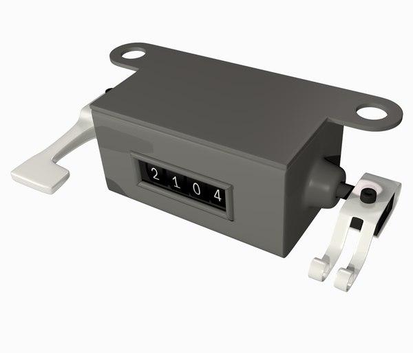 3d mechanical counter