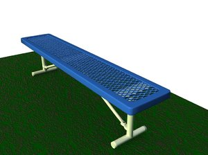 park bench prototype b 3d model