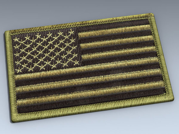 patch flag olive drab max