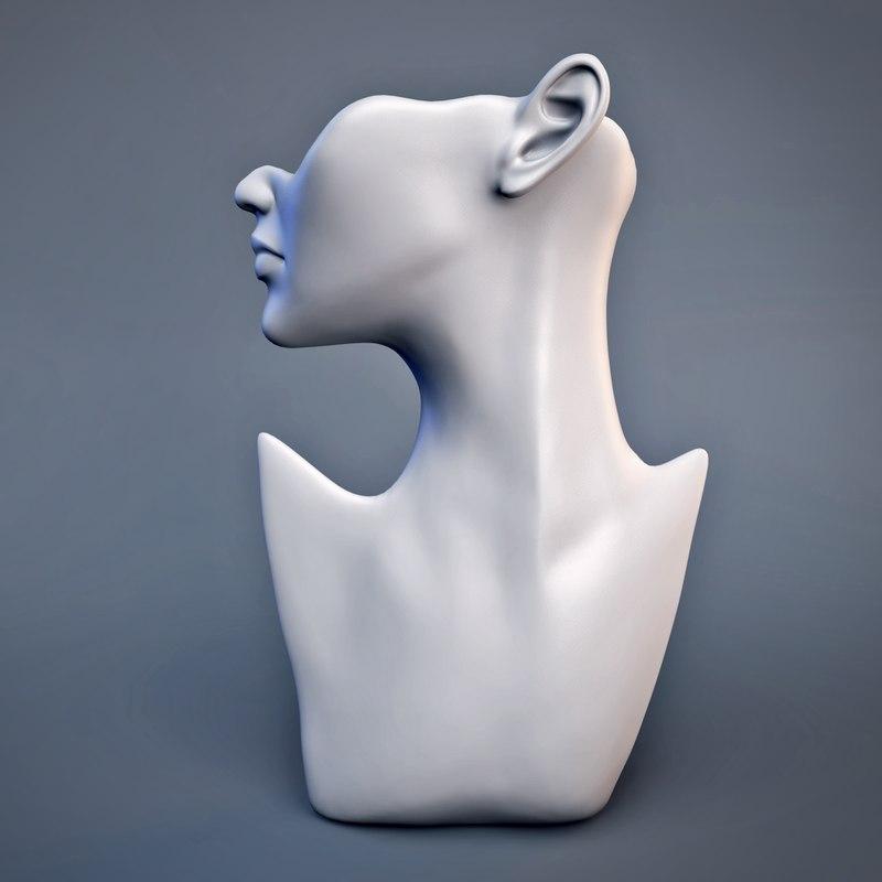 3d model of mannequin head