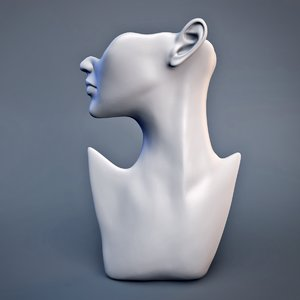 3d model of mannequin head